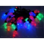 Гирлянда светодиодная цветная шишки 4 м