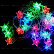 Гирлянда светодиодная цветная 5 м звёздочки