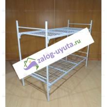 Кровать металлическая для рабочих двухъярусная 80х190