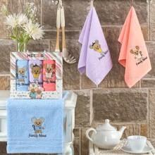 Полотенца махровые набор 3 шт цветной Новогодний