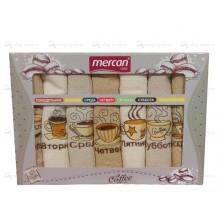 Полотенца вафельные набор Неделька Кофе