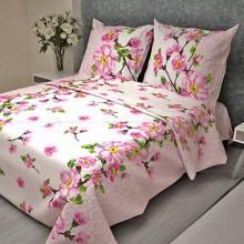 Постельное белье Бязь 1.5-спальное Сакура розовый