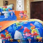 Постельное белье Поплин 1.5-спальное детское Смурфики