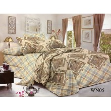 Постельное белье Поплин 2-спальное с евро простынью WN05
